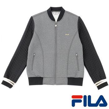 FILA女性時尚印花外套(金屬灰)5JKP-5460-RG