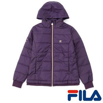 FILA女性鋪棉修身外套(神秘紫)5JKP-5453-DP