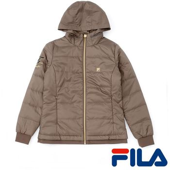 FILA女性鋪棉修身外套(氣質棕)5JKP-5453-BN