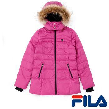 FILA女性連帽羽絨外套(優雅紫)5JKP-5432-PL