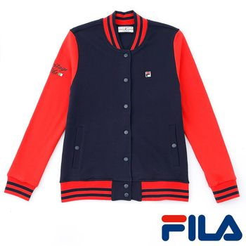 FILA女性棒球外套(學院藍)5JKP-5419-NV
