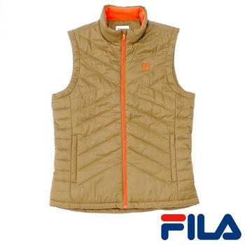 FILA男仕科技棉保暖背心(茶褐色)1VEP-5102-CN