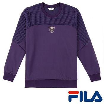 FILA男仕簡約LOGO吸濕排汗上衣(魅力紫)1TEP-5437-DP