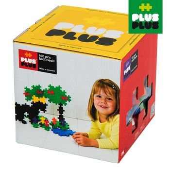 【BabyTiger虎兒寶】++Plus-Plus 加加積木 - Mini 大顆粒-彩虹系列 100pcs (盒裝)