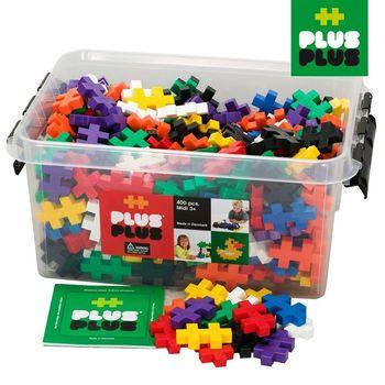 【BabyTiger虎兒寶】++Plus-Plus 加加積木 - Mini 大顆粒-彩虹系列 400pcs (收納箱)