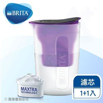 《德國BRITA》fill enjoy FUN酷樂壺 / BRITA濾水壺1.5L+1入濾芯【本組合共2支濾芯】(紫色)
