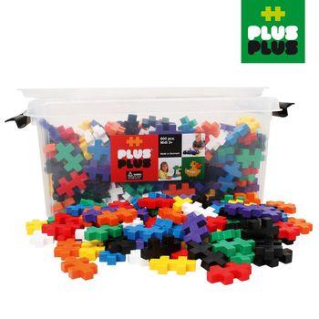 【BabyTiger虎兒寶】++Plus-Plus 加加積木 - Mini 大顆粒-彩虹系列 600pcs (收納箱)