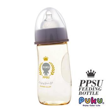 PUKU藍色企鵝 PPSU Smile母乳實感寬口奶瓶280ml