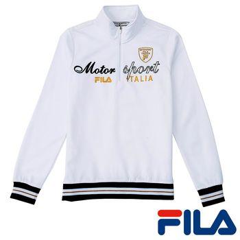 FILA女性立領內刷毛上衣(純淨白)5TEP-5451-WT