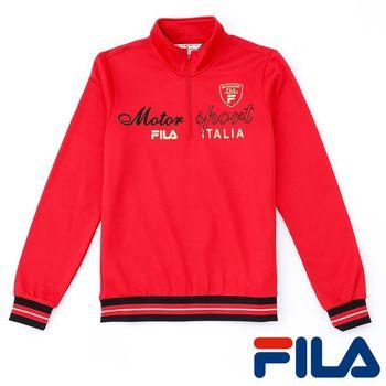 FILA女性立領內刷毛上衣(熱情紅)5TEP-5451-RD