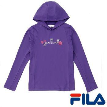 FILA女性吸排內刷毛連帽上衣(優雅紫)5TEP-5106-PL