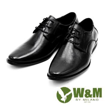 W&M 經典綁帶紳士皮鞋-黑