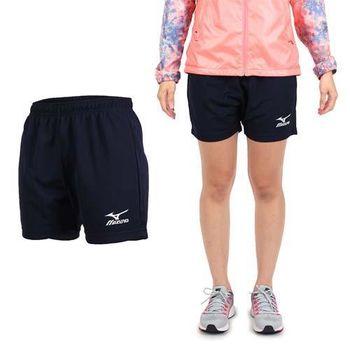 【MIZUNO】女排球褲- 排球短褲 慢跑 美津濃 丈青白