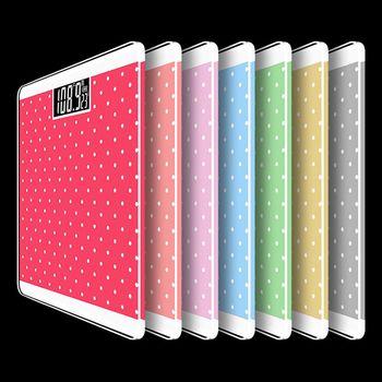 【The simple Life 】 馬卡龍色系水玉點點電子體重機 (共5色) 適用四號電池體重計