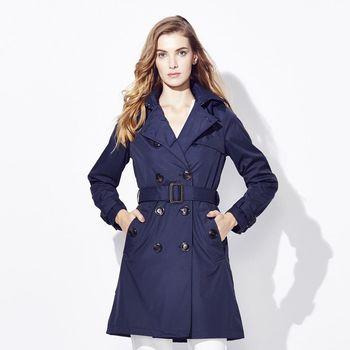 ST.MALO W.英倫保暖雙排長風衣