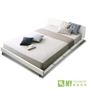 【最愛傢俱】都會風情4尺單人加大床架(白色)