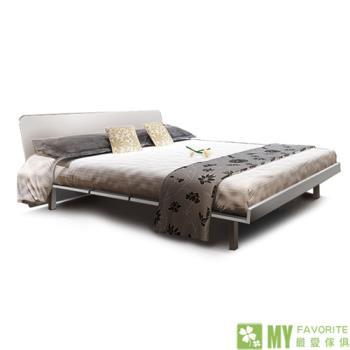 【最愛傢俱】都會風情5尺雙人床架(白)+5尺床墊