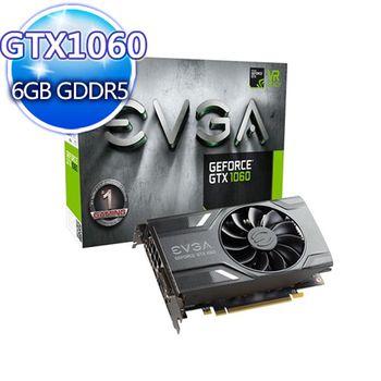 EVGA艾維克  GTX 1060 REF 6G ACX 2.0 GDDR5 (06G-P4-6161-KR)顯示卡