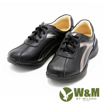W&M FIT拚色休閒運動鞋健走鞋 女鞋-黑(另有粉)
