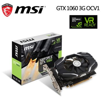 msi微星 GeForce GTX1060 3G OCV1 顯示卡