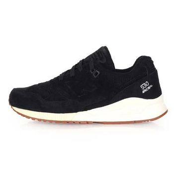 【NEWBALANCE】530系列 女復古休閒鞋-NB N字鞋 黑米白