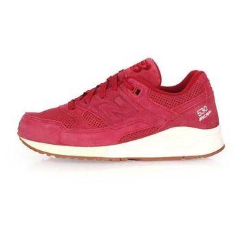【NEWBALANCE】530系列 女復古休閒鞋-NB N字鞋 暗紅白