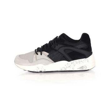 【PUMA】BLAZE WINTER TECH 男女復古運動鞋-慢跑 路跑 黑淺灰