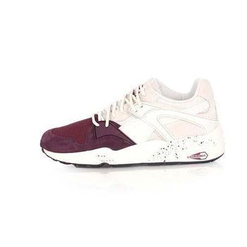 【PUMA】BLAZE WINTER TECH 男女復古運動鞋-慢跑 路跑 深紫白