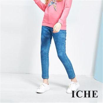 【ICHE 衣哲】漸層刷色合身單寧牛仔長褲