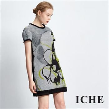 【ICHE 衣哲】隨性潑墨設計洋裝