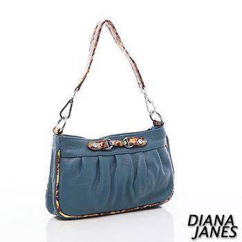 Diana Janes 牛皮豹紋撞色兩用包