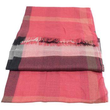 BURBERRY 3922717 英系經典格紋絲質羊毛披肩圍巾/絲巾.暗紅