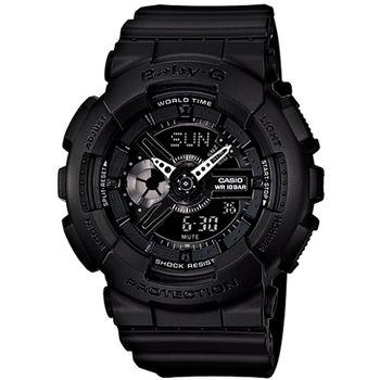 Baby-G 重型機械感酷炫黑女錶_BA-110BC-1A