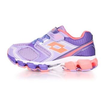 【LOTTO】男女大童避震跑鞋 -路跑 慢跑 夜跑 芋紫粉橘