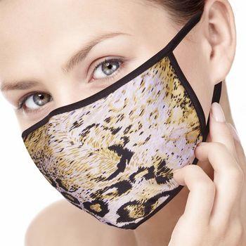狂野豹紋100%蠶絲口罩