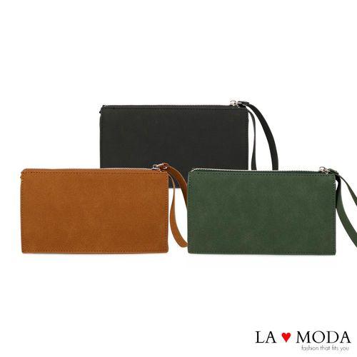 La Moda 超輕量輕便復古約會必備肩背斜背鏈帶包手拿包 (共3色)