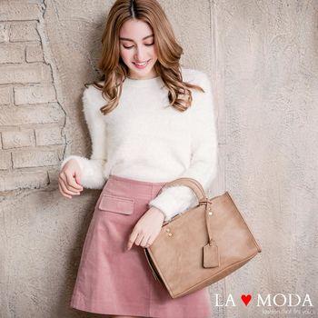 La Moda 經典不敗復古大容量手提肩背醫生包 (共3色)