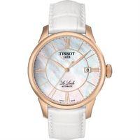 TISSOT Le Locle 力洛克羅馬機械腕錶 ^#45 珍珠貝x玫瑰金框 ^#47