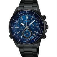 WIRED 日系獨立潮流計時腕錶 ^#45 藍x鍍黑 ^#47 42mm VK68 ^#4