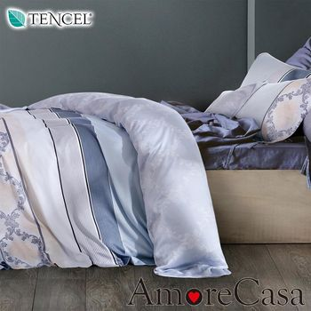 【AmoreCasa】如夢似水 100%TENCEL天絲加大兩用被舖棉床包組