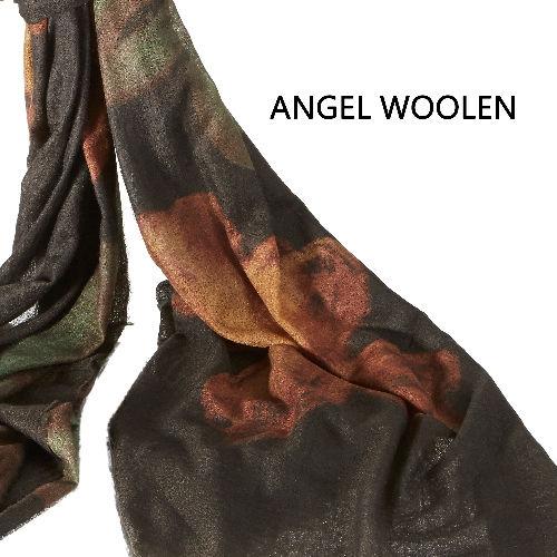 【Angel Woolen】羊絨手繪工藝披肩(復古桃花)