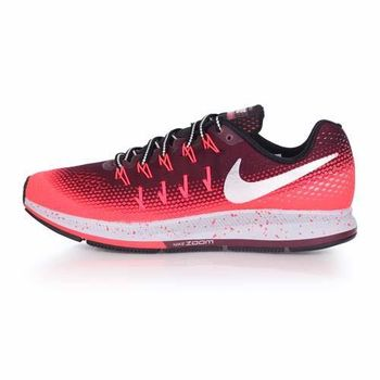 【NIKE】AIR ZOOM PEGASUS 33 SHIELD男慢跑鞋-反光 橘灰