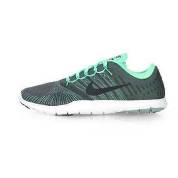【NIKE】WMNS FLEX ADAPT TR 女訓練鞋-慢跑 路跑 健身 淺綠灰