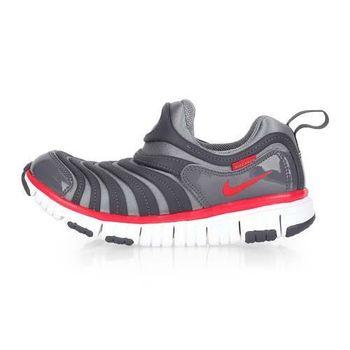 【NIKE】男女兒童毛毛蟲鞋 DYNAMO FREE-PS-大童 童鞋 灰紅