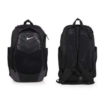 【NIKE】VAPOR 氣墊後背包-旅行包 雙肩包 黑銀
