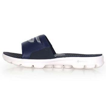 【SKECHERS】GO WALK-DRIFT 男運動拖鞋-游泳 休閒 海邊 丈青白