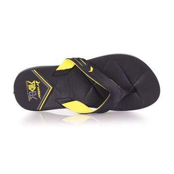【Rider】男運動拖鞋-人字拖 夾腳拖 海邊 海灘 沙灘 游泳 黑黃