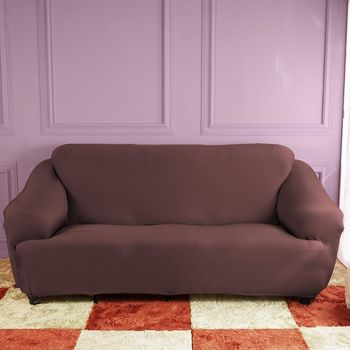 【HomeBeauty】防扯囊袋彈性沙發罩3人座-土木咖