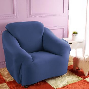 【HomeBeauty】防扯囊袋彈性沙發罩1+2+3人座--寶石藍