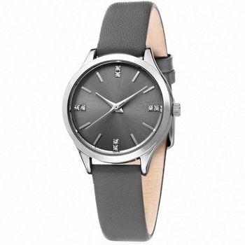 MANGO 微感優雅個性時尚腕錶-灰/31mm